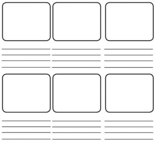 felt storyboard templates - storyboarding for english as a second language classes